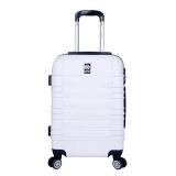 bolsa branca de viagem