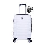 bolsa branca para viagem
