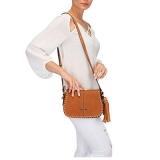 bolsa transversal de couro feminina