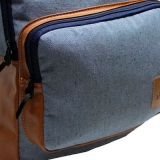 mochila feminina azul Brasnorte
